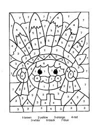 awesome number printable coloring pages kitty kids color