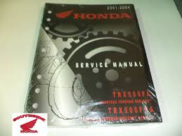 genuine honda service shop manual honda foreman rubicon trx500 fa