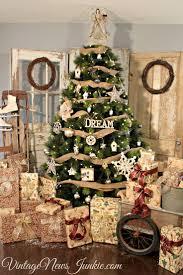 vintage tree decorations lights decoration