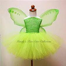 Green Tutu Halloween Costume Tinkerbell Tutu Dress Fairy Wings Size Mtccollection