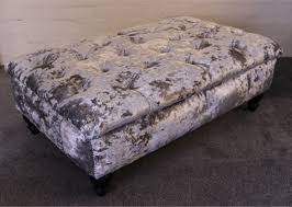 Ebay Chesterfield Sofa by The Kendal Chesterfield Footstool In Crushed Velvet