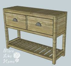 Entryway Table With Drawers Entry Table Entry Tables Table Plans And Diy Furniture