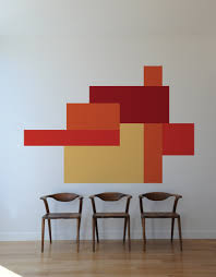 Wall Decors by Color Block Parallel Wall Decals U2013 Blik