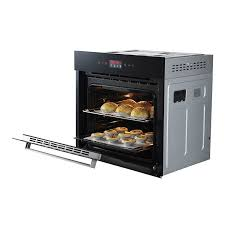 Glass In Toaster Oven Built In Electric Oven With Three Layers Tempered Glass For