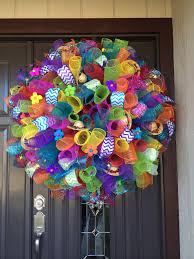 fiesta spiral deco mesh wreath wreaths pinterest deco mesh