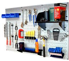 wall standard workbench metal pegboard tool organizer