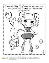 lalaloopsy doll coloring kids printable free furry