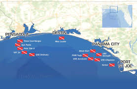 Map Of Destin Florida Area by Divers Enjoy Oriskany 10 Years After Reefing Wuwf