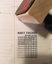 habit tracker stamp for a bullet journal or planner make an easy