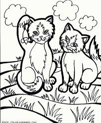 cat and kitten coloring page coloring page pedia