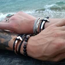 leather wrap anchor bracelet images Leather anchor bracelet cado london jpg