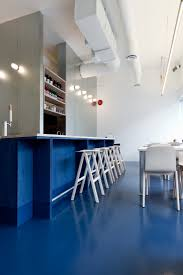 interior floor paint paint it blue a new wave thai restaurant in vancouver remodelista