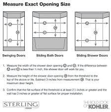 Shower Door Width Shop Sterling Standard 42 In To 48 In W Framed Silver Sliding