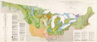 Map Of Southern Usa by Amazing 1959 Surficial Map Of The Northern Us And Southern Canada