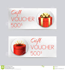 gift voucher template with christmas gifts stock vector image