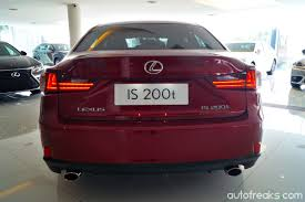 lexus service malaysia lexus malaysia introduces new is 200t with 2 0l turbocharged