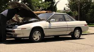 subaru xt 1989 fully functional subaru xt6 1980s air suspension at work youtube