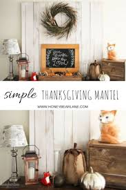 Thanksgiving Home Decor by Simple Thanksgiving Mantel