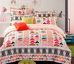 Tribal Pattern Comforter Cliab Tribal Bedding For Teens Aztec Bedding Exotic Orange Red