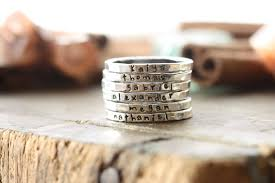 personalized stackable rings personalized stackable stacking rings sted sterling