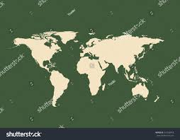 outline map world isolated vector illustration stock vector
