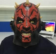 2017 creepy evil scary darth maul devil full head mask halloween