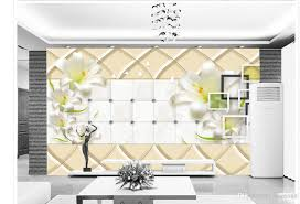 wallpaper for walls wallpaper 3d flower customized wallpaper for walls 3d green lilies