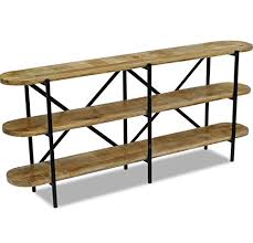 vintage industrial sideboard rustic console table wooden shelving