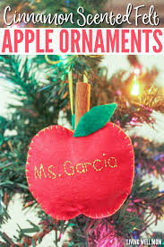 cinnamon scented felt apple ornaments