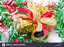 silver bells ornaments stock photo royalty free image
