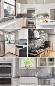 what color backsplash with gray cabinets 55 gorgeous gray kitchen ideas