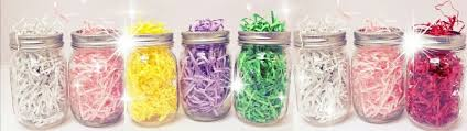 decorative shred party decoration jars paper shred candy bar balloons