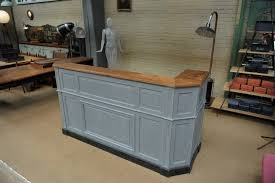 Double Reception Desk by Le Grenier Roubaix France Stock 1900s French Hotel