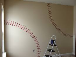 Custom Wall Decals For Nursery by Baseball Field Wall Decal Bedroom Themes Boys Room Design Picture