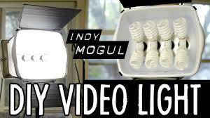 cheap studio lights for video how to powerful diy video light 800 watt equivalent youtube