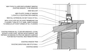 Window Sill Detail Cad Example Sill Detail Of Insert Replacement Window Building