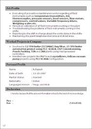 iti resume format resume sample for iti in coe trade advanced