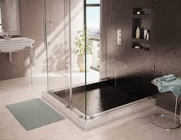 bathroom tileable shower base design ideas with bathroom rugs and