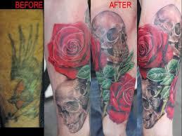 7 skull cover up tattoos