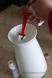 How To Paint Inside Glass Vases How To Paint A Glass Vase Tutorial The Creative Mom