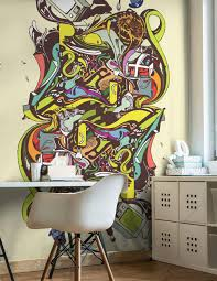 abstract illustration wall mural eazywallz abstract illustration wall mural abstract urban modern graphics eazywallz
