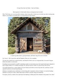 a long term survival guide survival cabins log cabin roof