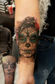 Skull Arm - http tattooideas247 com sugar skull cover up sugar skull