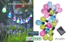 20 coloured bulb string lights