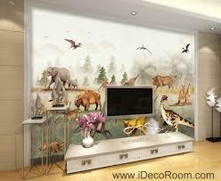 jurassic animals dinosaur froest wallpaper wall art print mural jurassic animals dinosaur froest wallpaper wall art print mural home decor gift
