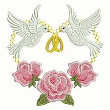 rings doves embroidery designs machine embroidery designs at