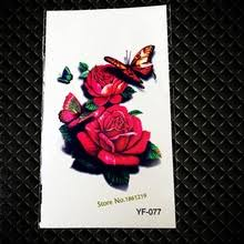 buy red rose tattoo designs and get free shipping on aliexpress com
