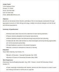 elementary teacher resume new teacher resume template