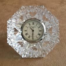 waterford crystal lismore diamond shape desk clock 156703 mantle paperweight waterford