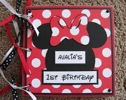 minnie mouse photo album minnie guest book etsy